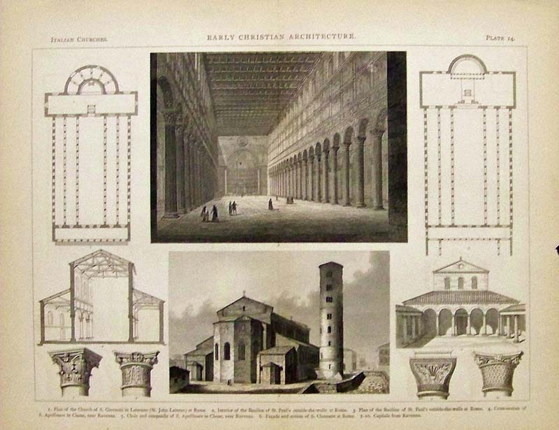 Prints Old & Rare - Architecture - Antique Maps & Prints