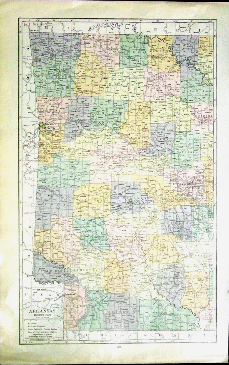 Map Of Arkansas And Surrounding States