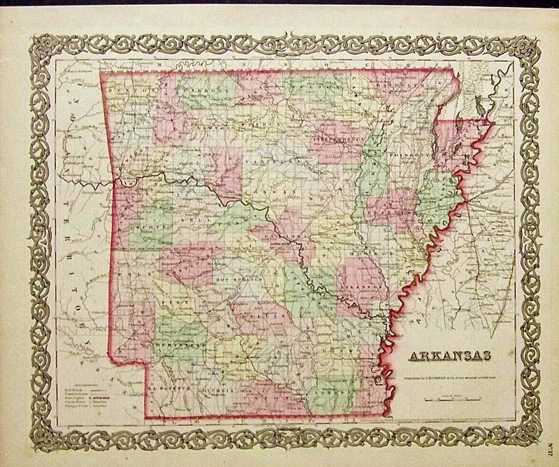 Prints Old Rare Arkansas page