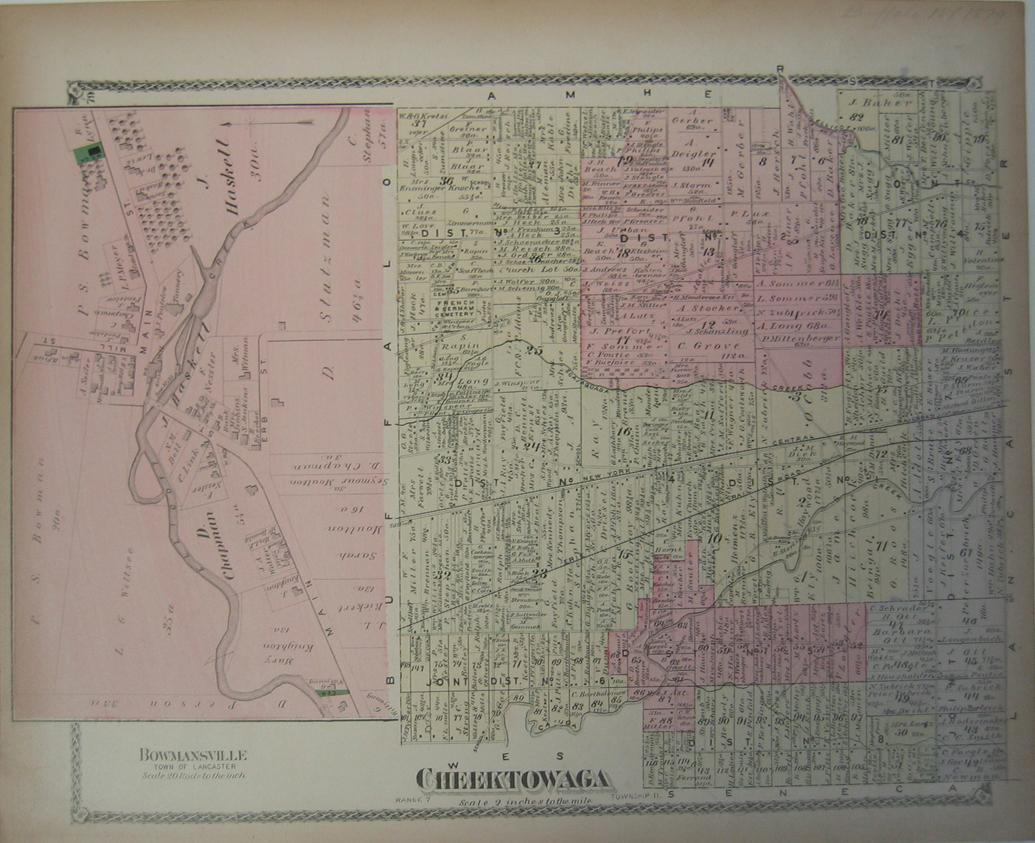 Prints Old Rare Buffalo and Niagara Falls NY Antique Maps