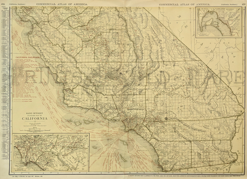 Prints Old Rare California Antique Maps Prints