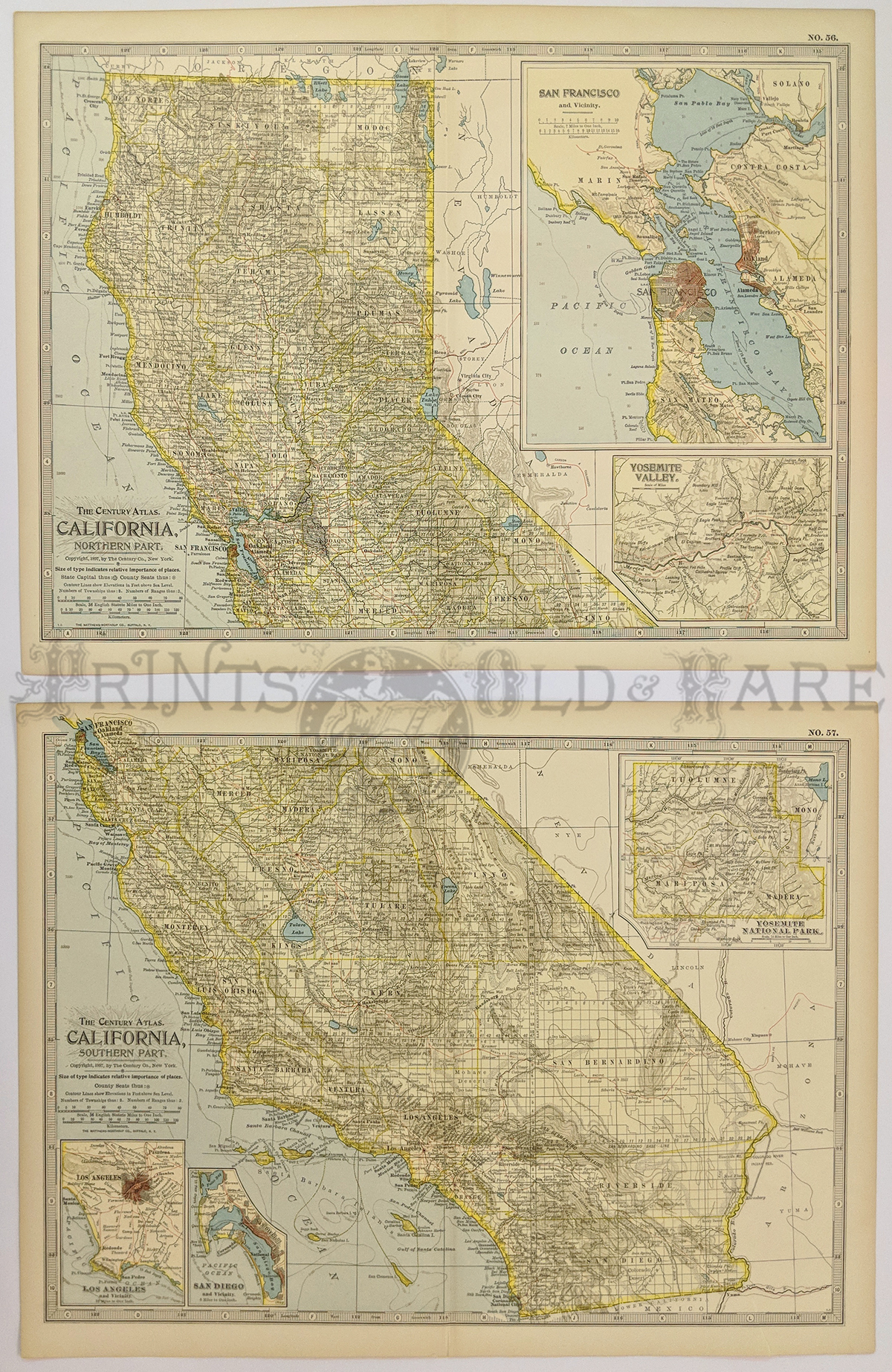 Prints Old Rare California Antique Maps Prints