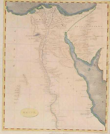 Prints Old Rare Egypt And North Africa Page - Map of egypt nile