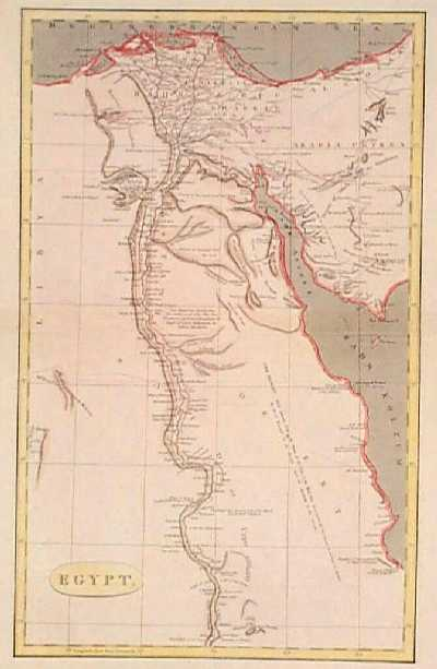 Prints Old Rare Egypt And North Africa Page - Map of egypt showing upper and lower
