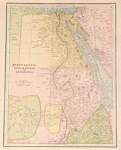 Prints Old Rare Egypt And North Africa Page - Map of egypt nubia