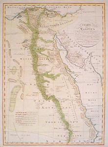 Prints Old Rare Egypt And North Africa Page - Map of egypt detailed