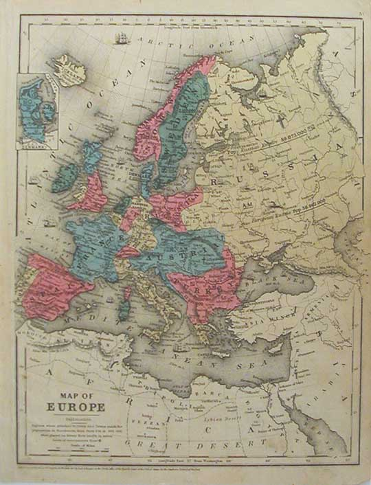 europe map cities. 008euro: 1847 Europe Map.