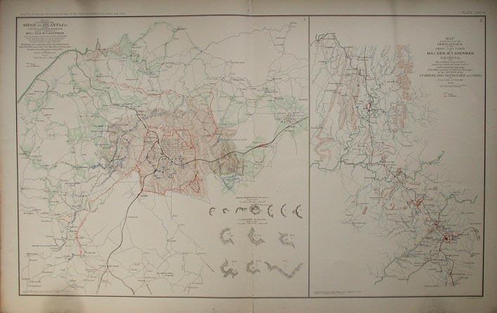 Prints Old Rare Georgia Antique Maps Prints