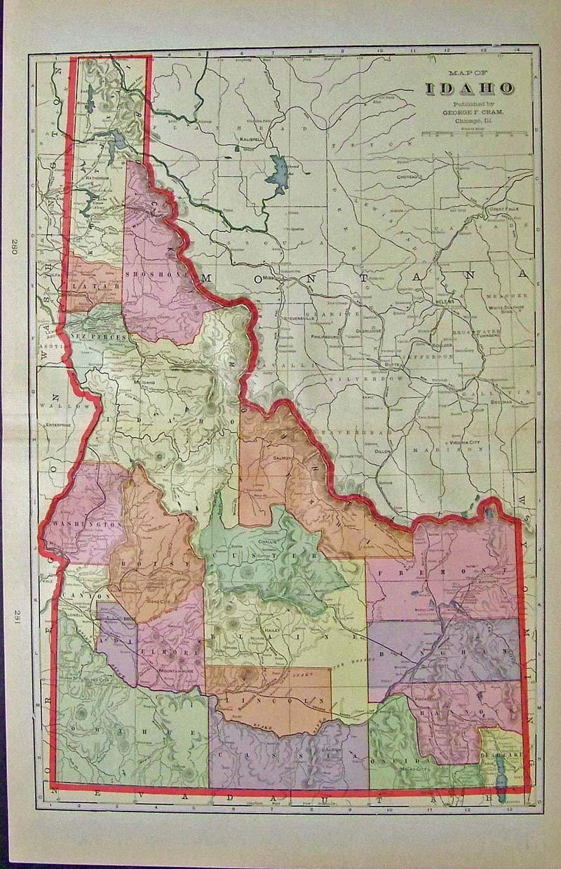 Exhilarating image inside printable map of idaho