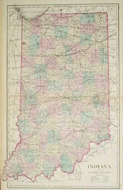 Prints Old Rare Indiana Antique Maps Prints