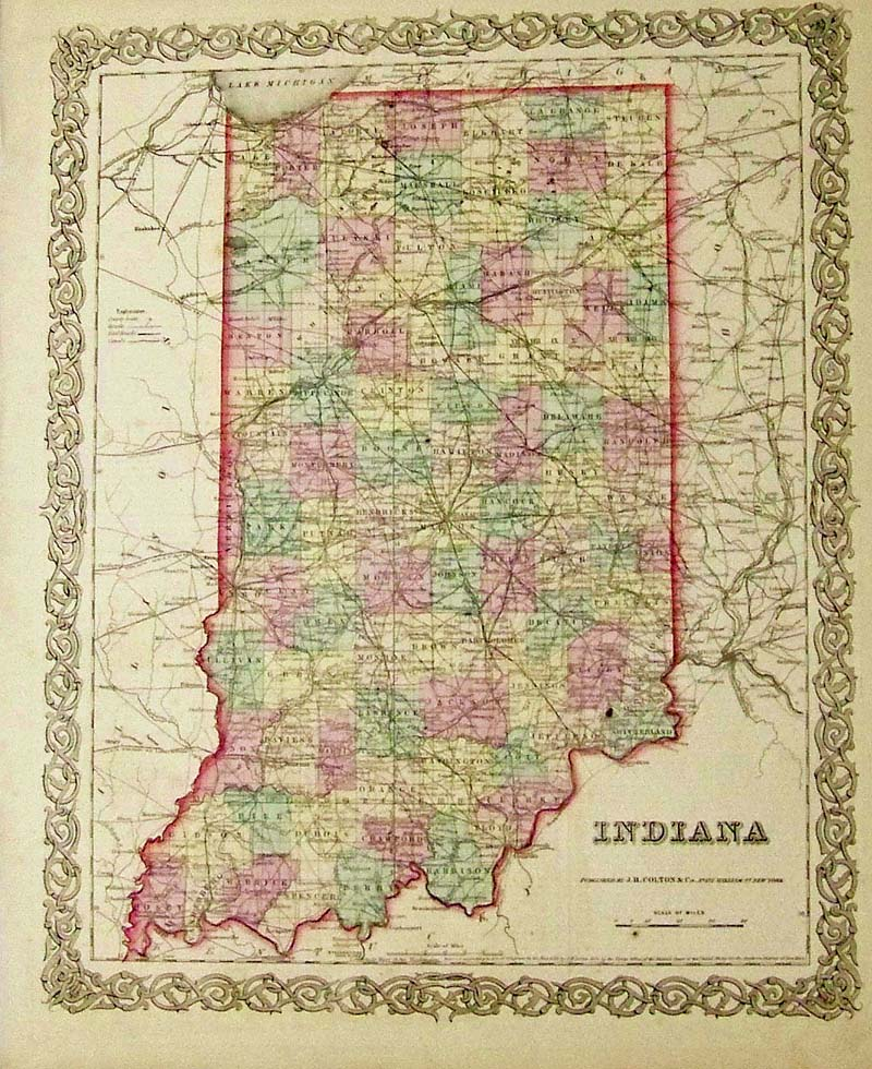 Indiana State Map With Cities And Towns – Jerusalem House
