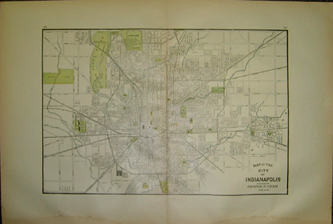 Prints Old Rare Indianapolis IN Antique Maps Prints