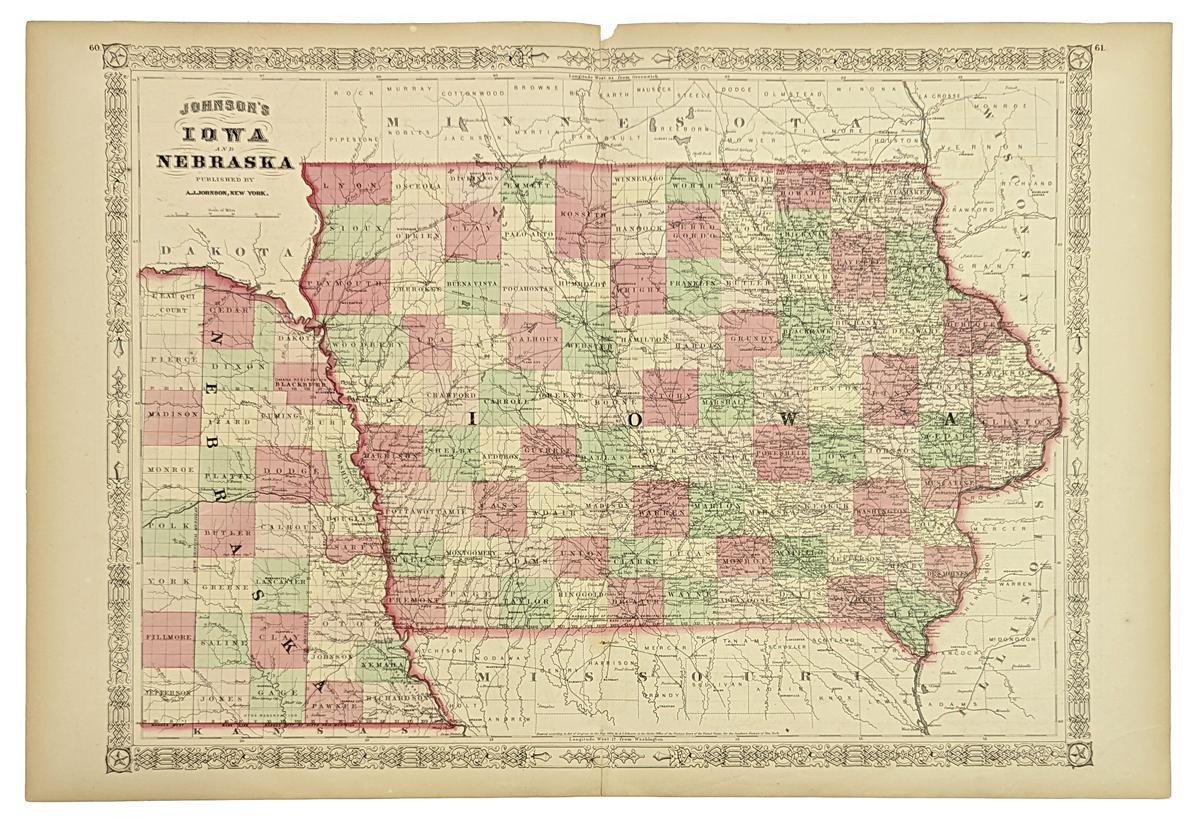 Prints Old Amp Rare  Iowa Page