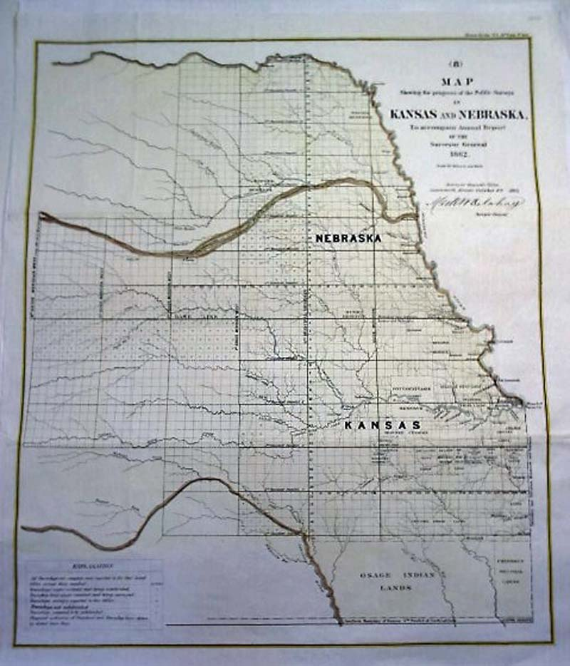 Prints Old Rare Kansas Antique Maps Prints