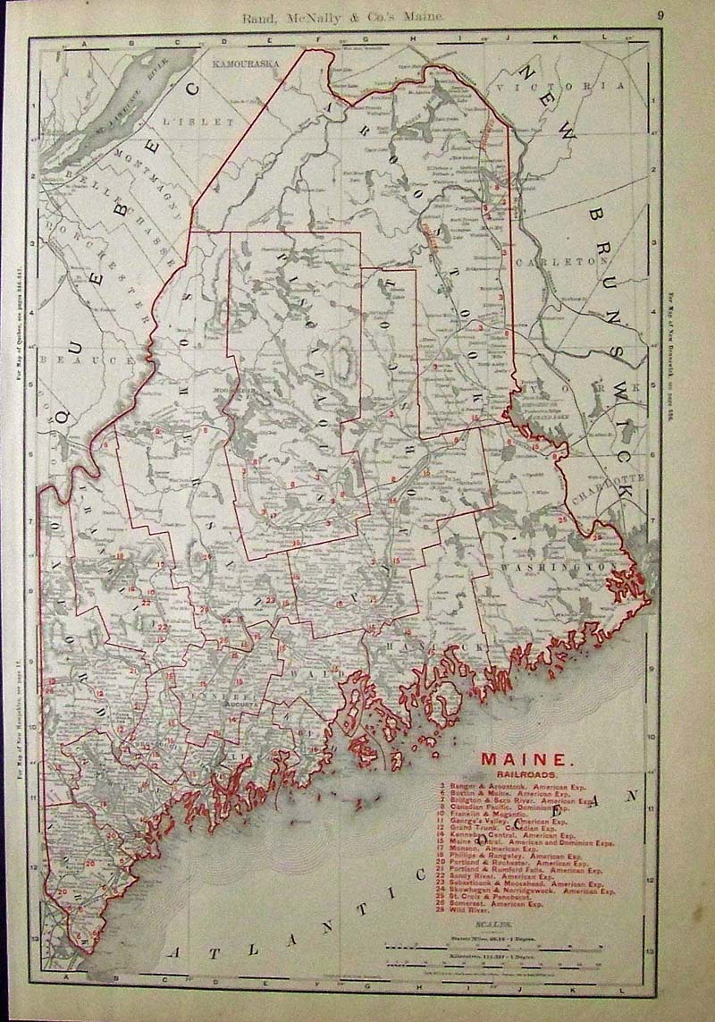 Prints old rare maine antique maps prints 1884 hand colored wood engraving from harpers weekly titled picturesque scenes along the coast of maine drawn by john rix 21 12 x 16 in geenschuldenfo Image collections
