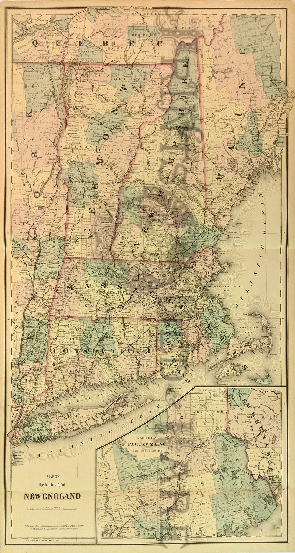 Bangor Maine Antique Maps Old Panoramic Print Vintage Bar Harbor