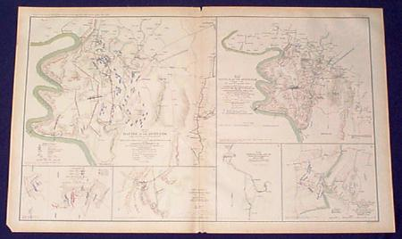 Civil War Maps Of The Antietam Maryland Large Litho Page Published By Us Government After The War Shows Old Confederate And Union Lines Forts Etc