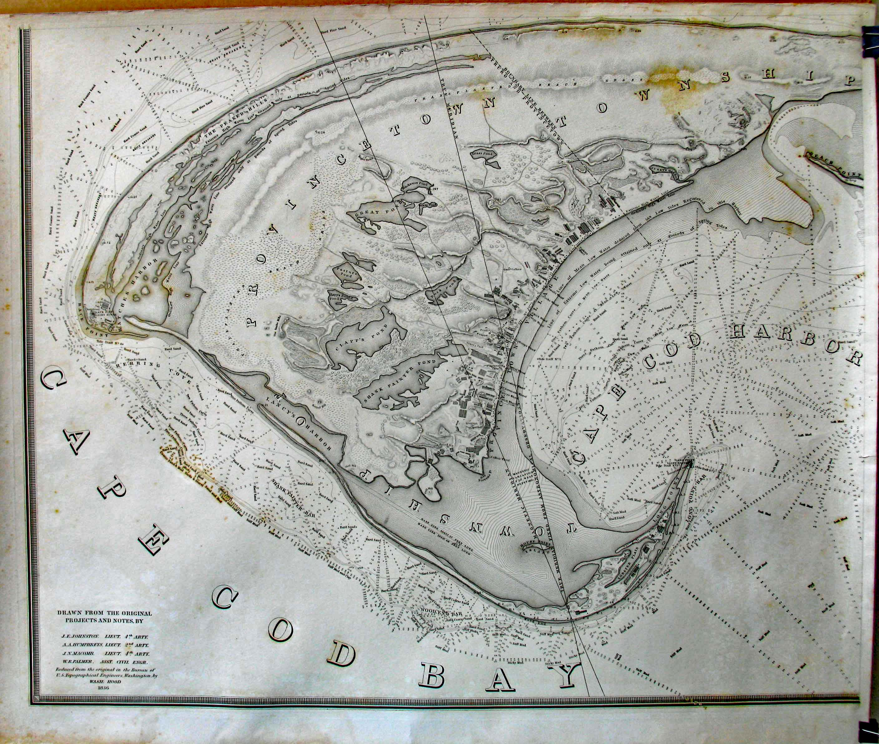 Prints old rare massachusetts antique maps prints 1835 four part map of the extremity of cape cod including the township of provincetown and truro with a chart of their sea coast and of cape cod harbour nvjuhfo Gallery