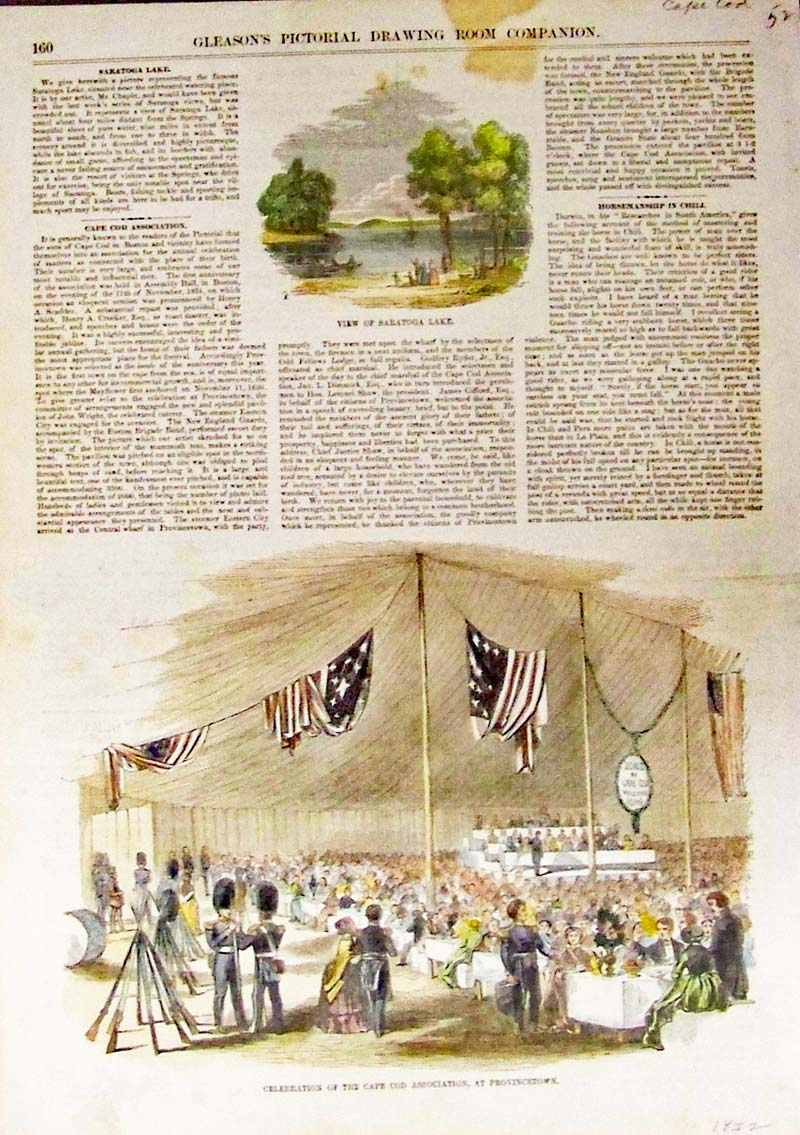 Prints old rare massachusetts antique maps prints clevelands visit to sandwich cape cod the dinner at sandwich to neighbor cleveland and some of the ex president clevelands neighbors drawn by nvjuhfo Choice Image