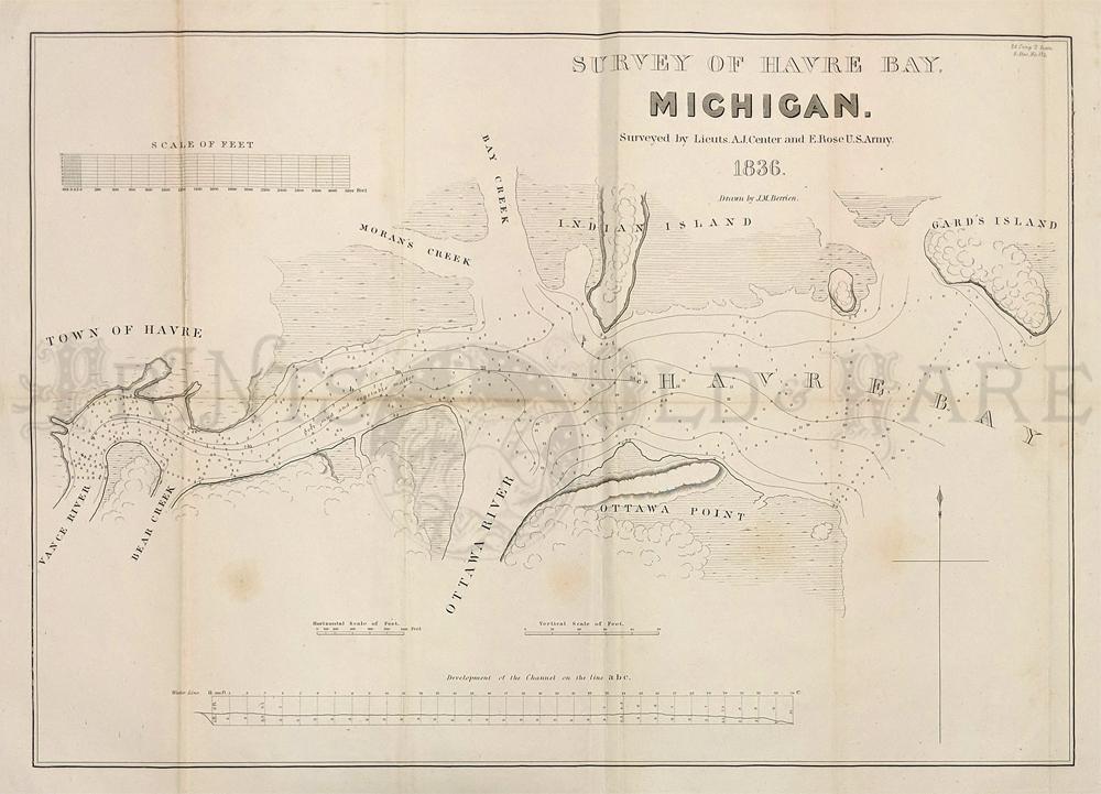 Prints Old Rare Michigan Antique Maps Prints