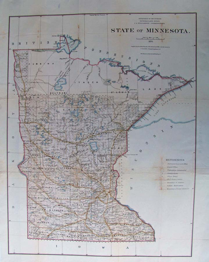 Prints Old Rare Minnesota Antique Maps Prints
