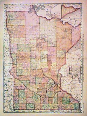 Prints Old Rare Minnesota Antique Maps Prints - Map of mn