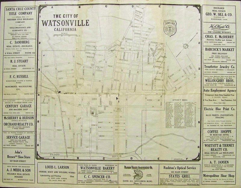 Prints Old Rare Monterey Carmel CA Antique Maps Prints