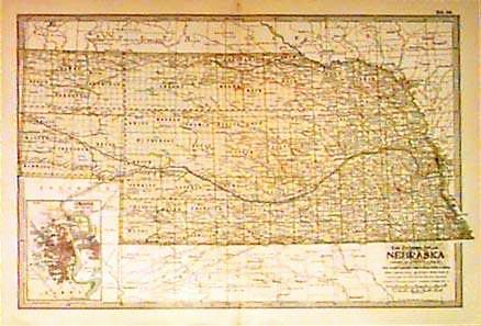Prints Old Rare Nebraska Page - Nebraska map
