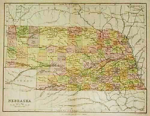 map of nebraska with cities. Map of Nebraska,