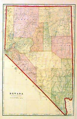 Prints Old Rare Nevada Page - Map of nv