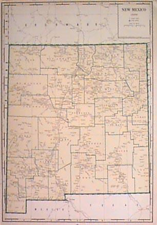 Prints Old Rare New Mexico Page - Map of new mexico towns