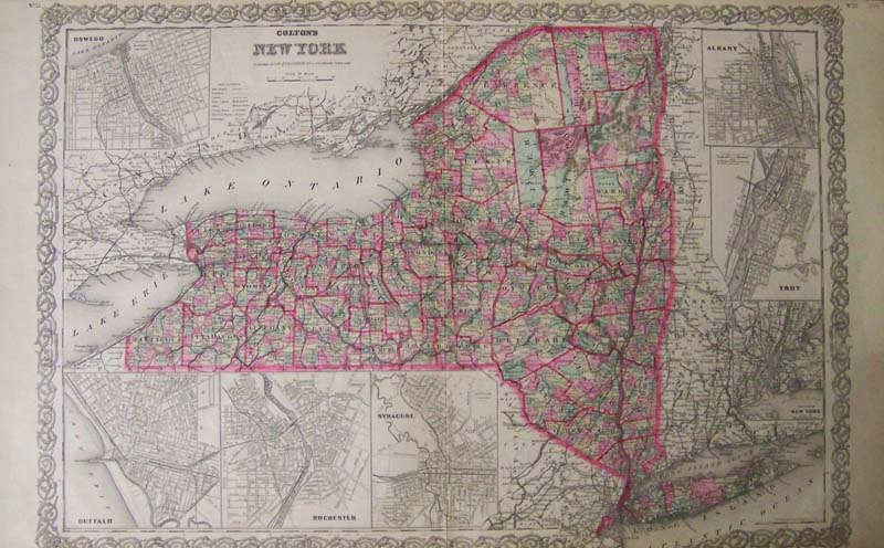 Prints Old Rare New York Antique Maps Prints