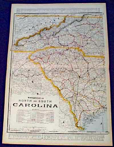maps of north carolina cities. 111nc: 1901 Map: western North