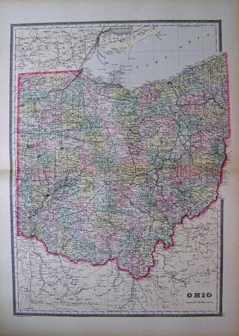 Prints Old Rare Ohio Antique Maps Prints
