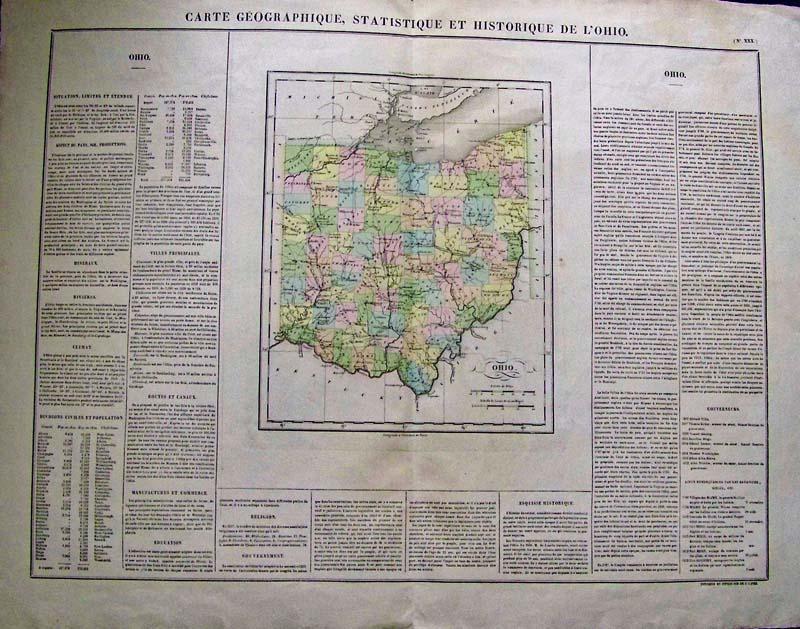 Prints Old & Rare - Ohio - Antique Maps & Prints on map of of ohio, large maps of ohio with rivers, travel map of ohio, business map of ohio, general map of ohio, printable road map of ohio, transportation map of ohio, military map of ohio, reference map of ohio,