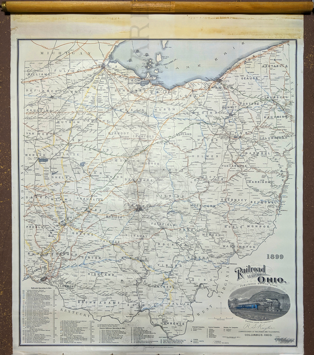 1887 Antique Map of Northern Ohio Original 19th Century Color Atlas Map for Framing