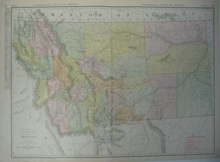 Colorful map of Montana,