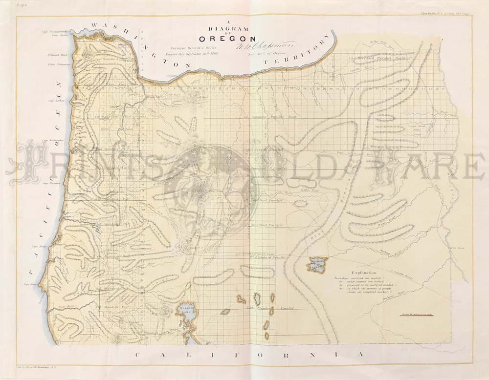 Who publishes a large map of Oregon?