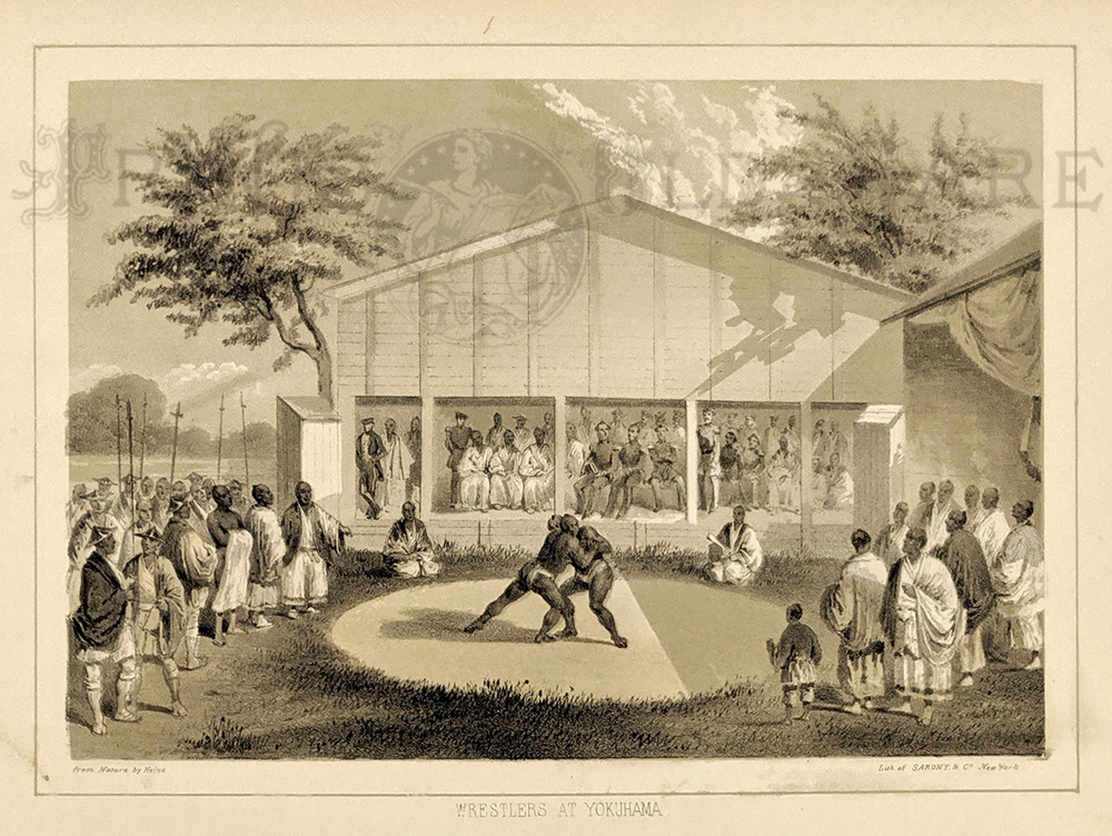 Ballou S Pictorial Drawing Room Companion Wrestling