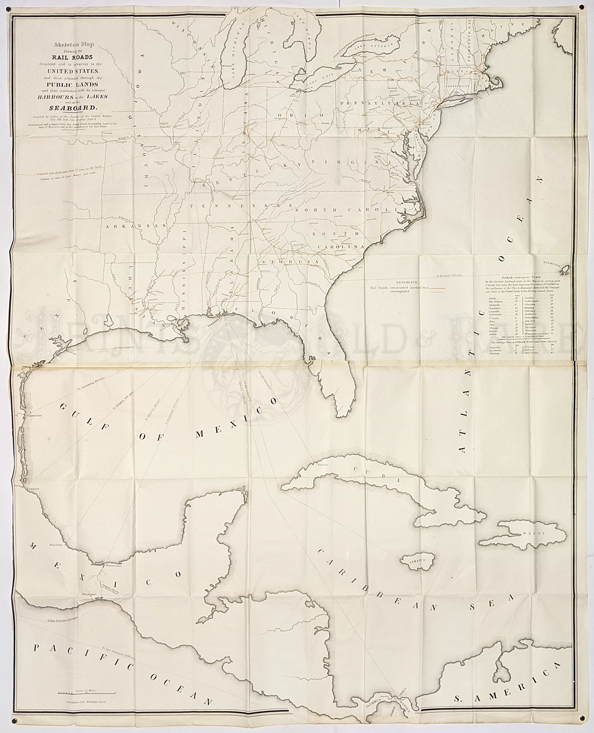"""24/"""" x 24/"""" 1890 Map Of Ohio Railroad Published By The State"""