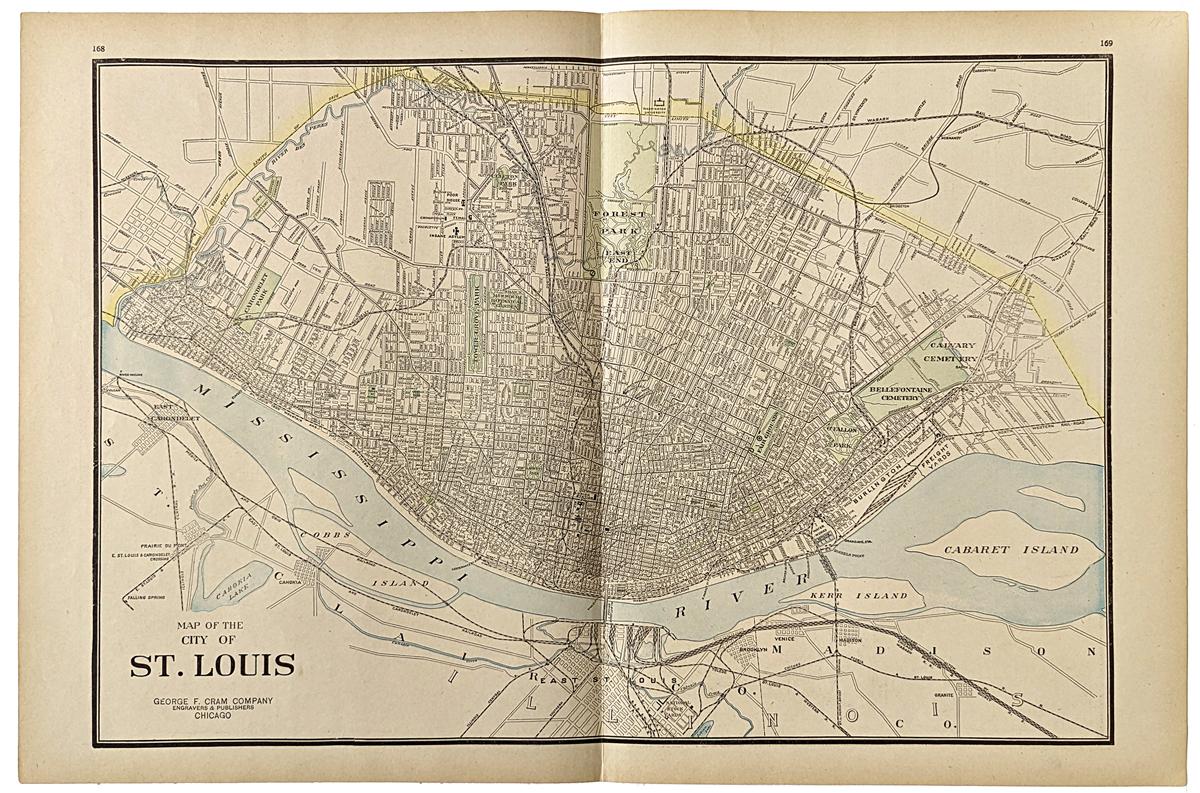 Prints Old Rare St Louis MO Antique Maps Prints