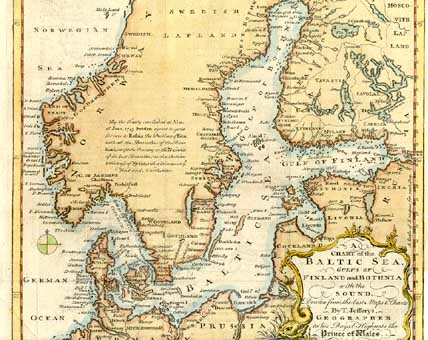 Prints old rare sweden page 1748 a chart of the baltic sea gulf of finland and bothnia with the sound drawn from the best maps and charts by t jefferys geographer to his royal publicscrutiny Choice Image