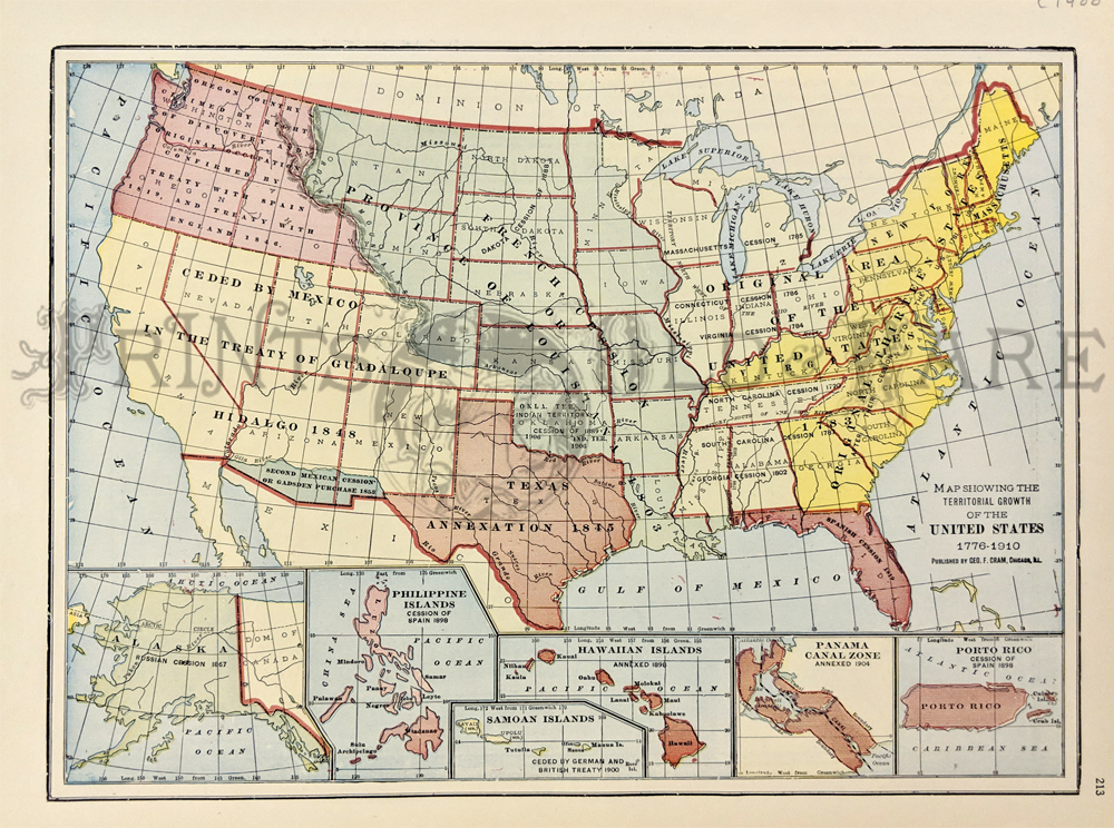 Prints Old Rare United States Of America Page - Map of us in 1776