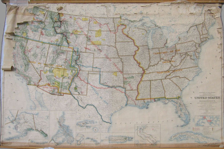 Prints Old Rare Wall Maps - Map of us territories and possessions