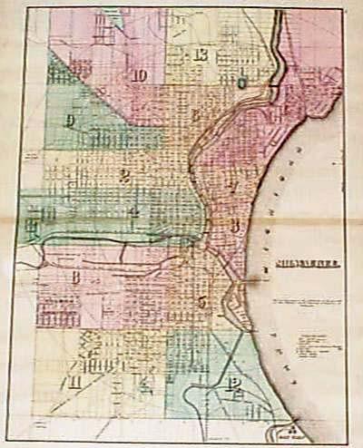 Prints Old Rare Wisconsin Antique Maps Prints