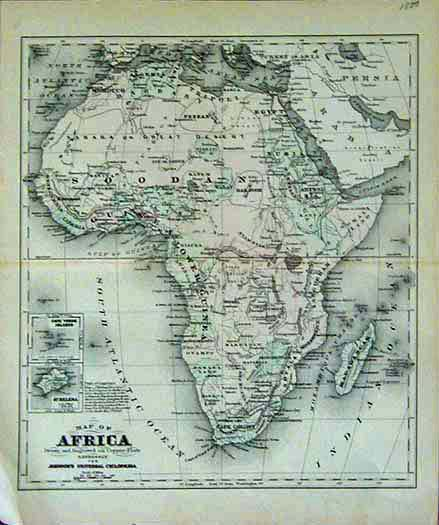 Prints Old Rare Africa Antique Maps Prints - Authentic world map