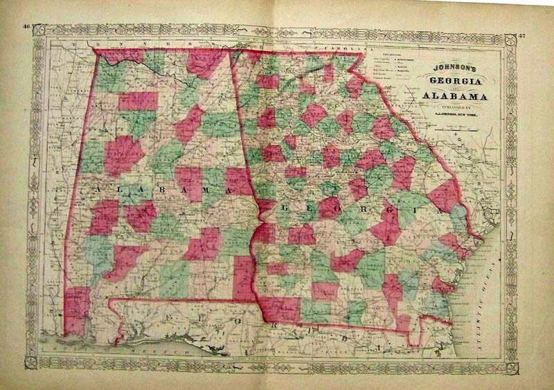 Prints Old & Rare - Alabama - Antique Maps & Prints