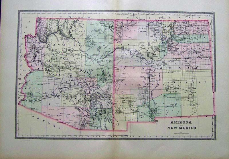 Prints Old & Rare - Arizona - Antique Maps & Prints