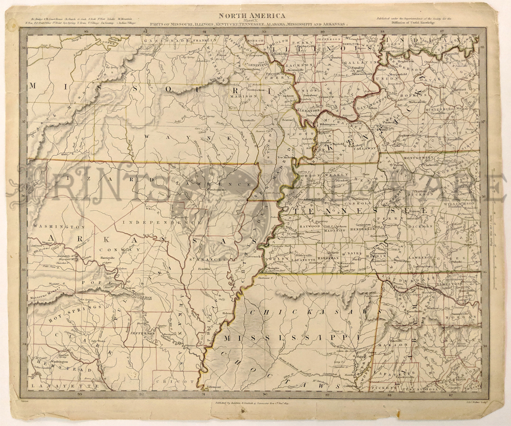 Prints Old & Rare - Arkansas - Antique Maps & Prints on road map of tennessee, map of tennessee cities, map of tn and ms, map of southwest tennessee, map of crossett arkansas, map of mississippi and alabama, map kentucky and tennessee, map of ar, map mississippi and tennessee, map of arkansas tennessee-kentucky, map louisiana to tennessee, map of western tennessee, map of northeast arkansas,