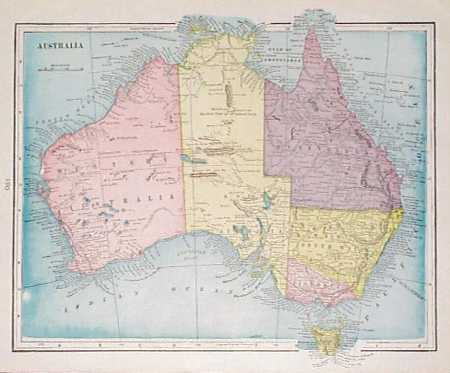 Map Of Australia 1901.Prints Old Rare Australia Antique Maps Prints
